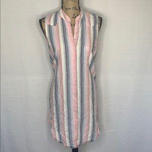 Anthropologie Cloth & Stone Stripe Shirt Dress NWT